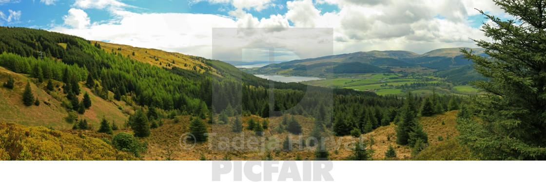 """View over Cowal peninsula"" stock image"