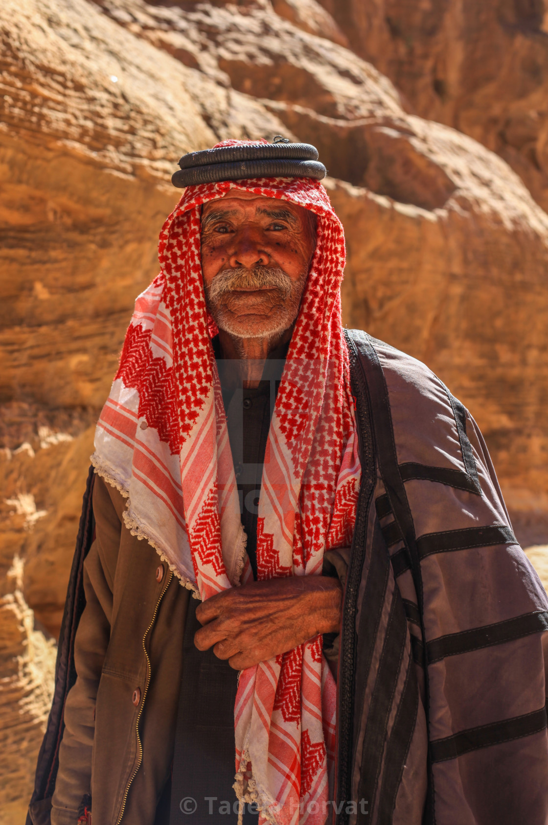 """Bedouin man in a traditional dress"" stock image"
