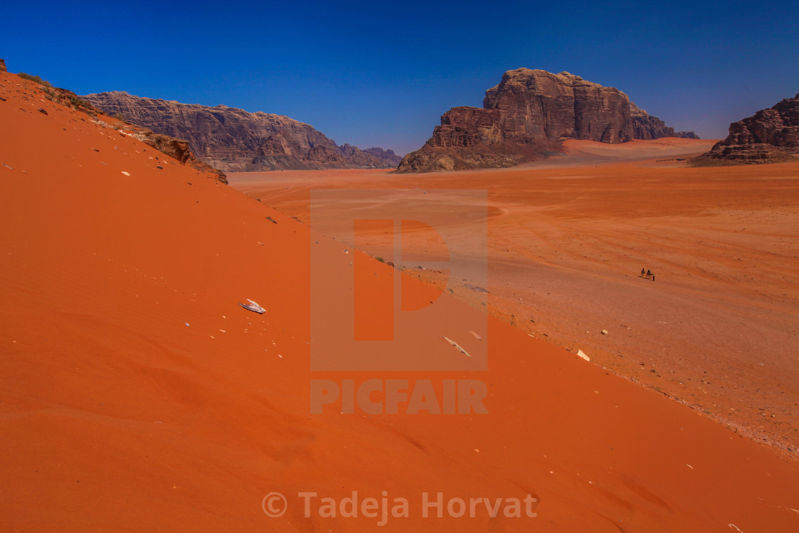 """Red Sand dunes"" stock image"