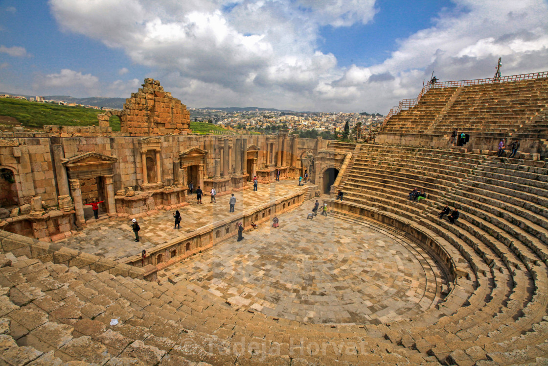 """South Theatre in Jerash"" stock image"