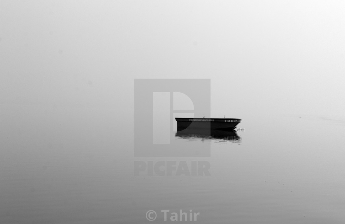 """Mist on a lake"" stock image"