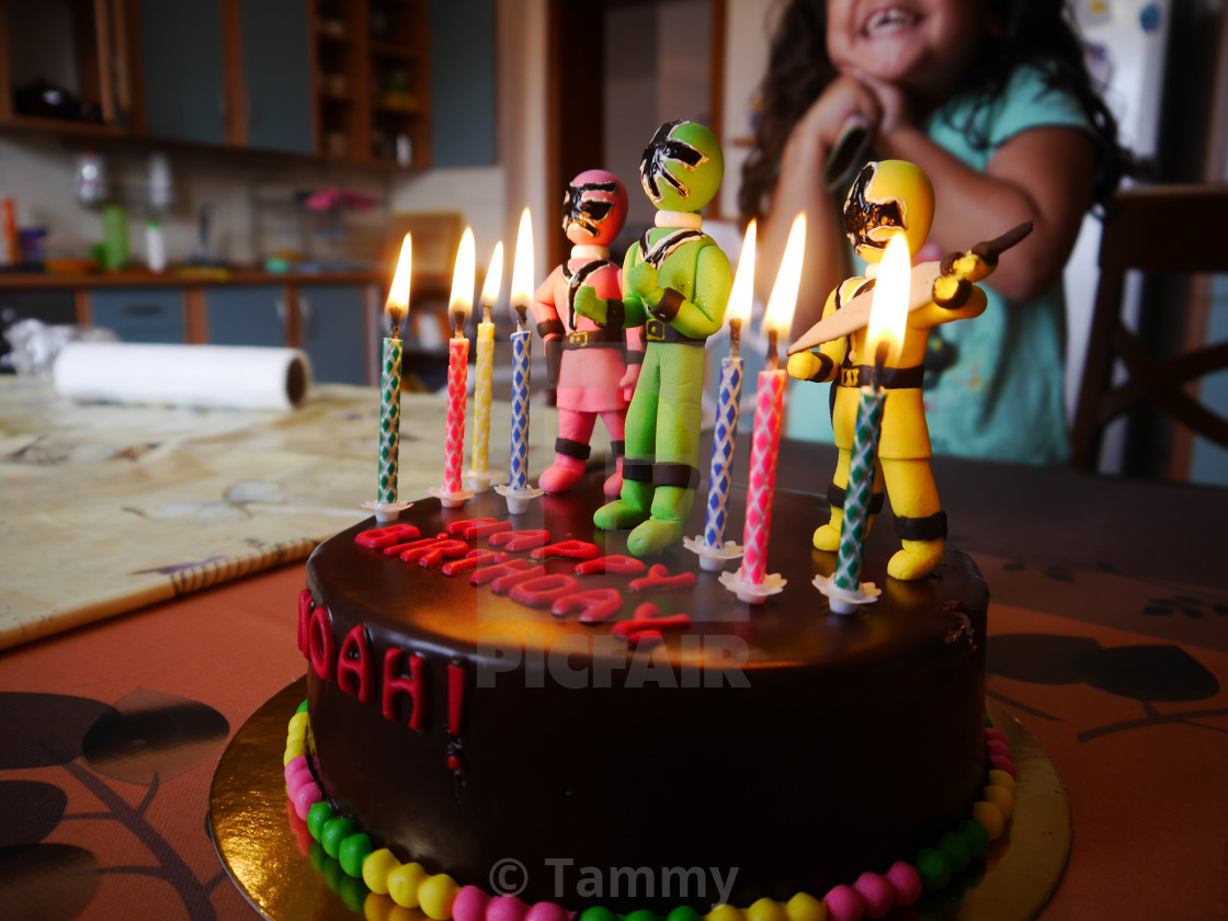 Fine Power Rangers Cake License Download Or Print For 1 60 Funny Birthday Cards Online Inifodamsfinfo
