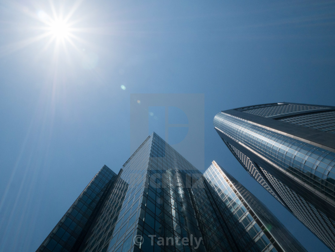 """Skyscrapers raising up into the sky"" stock image"