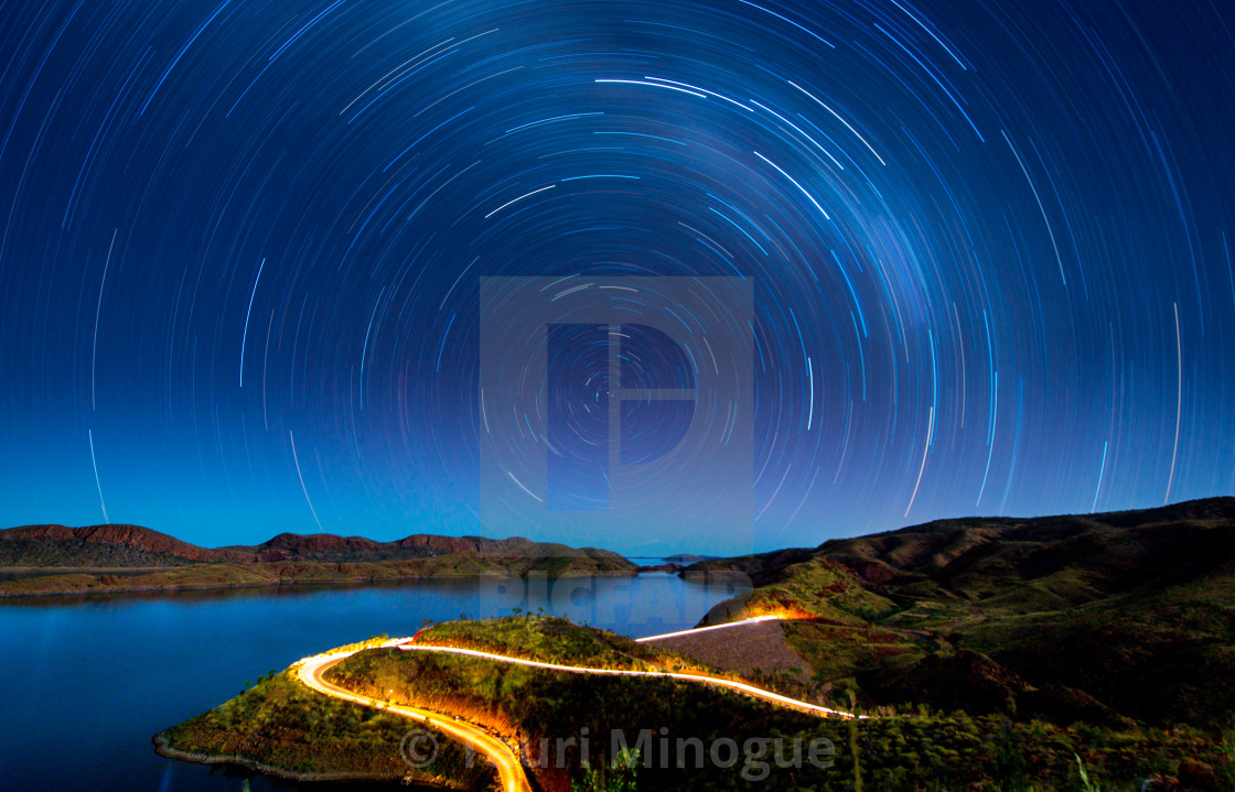 """Star Trails over Western Australia"" stock image"