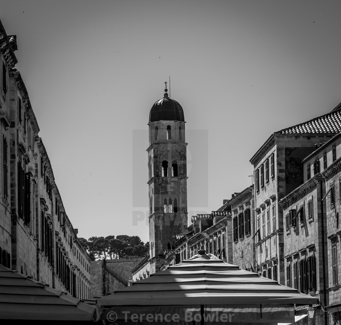 """""""Dubrovnik Old Town Bell Tower"""" stock image"""