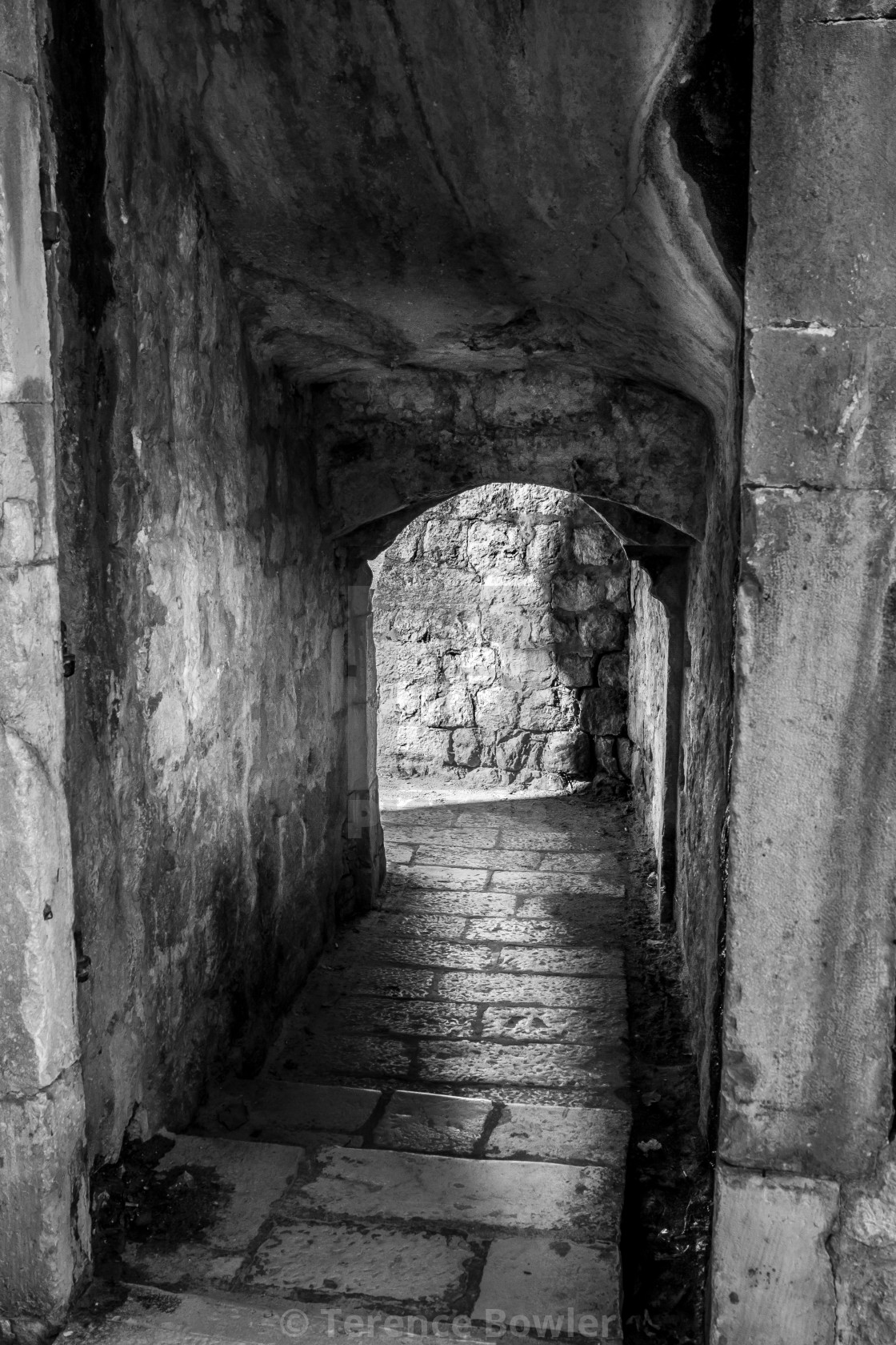 """""""Dubrovnik Old Town Passage"""" stock image"""