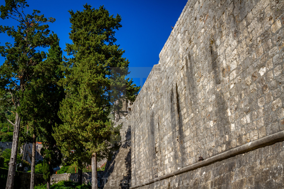 """""""Dubrovnik Old Town Castle Wall"""" stock image"""