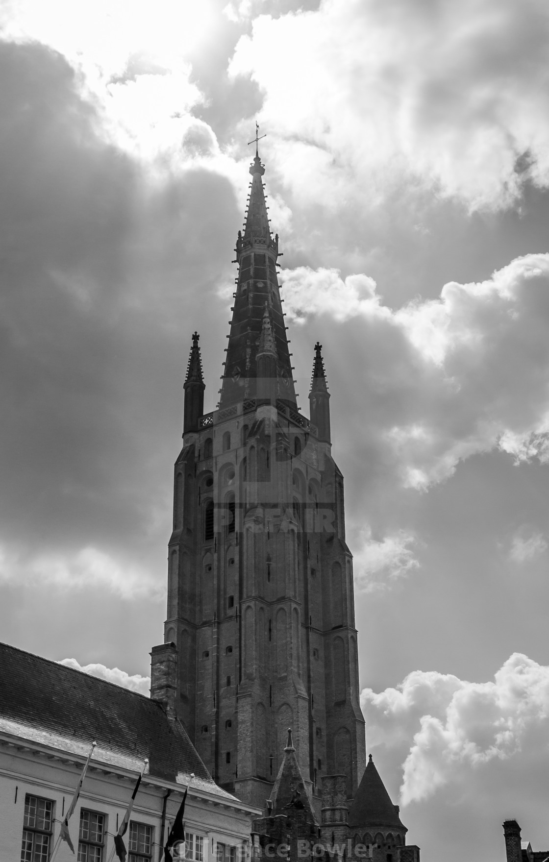 """""""Church in Bruges"""" stock image"""