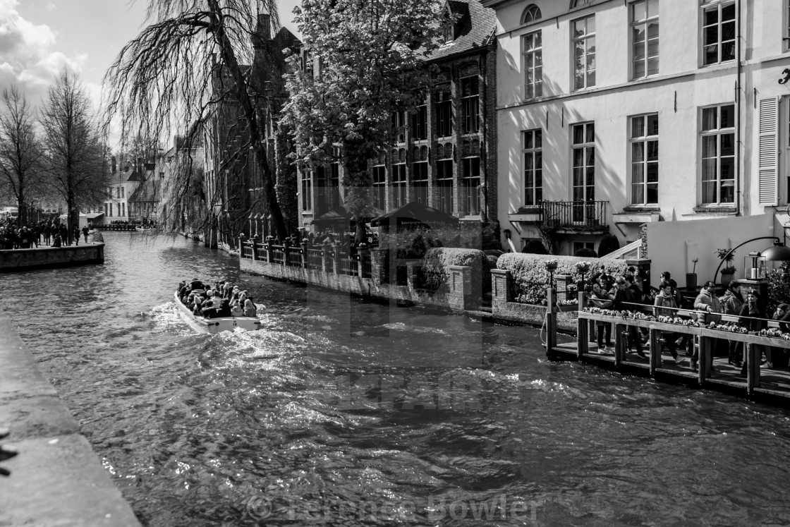 """""""Bruges Canal"""" stock image"""
