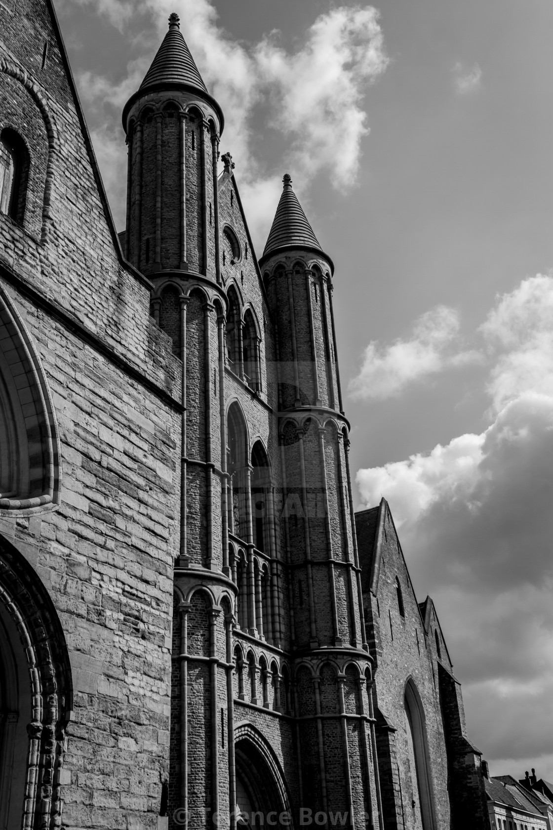 """Building in Bruges"" stock image"