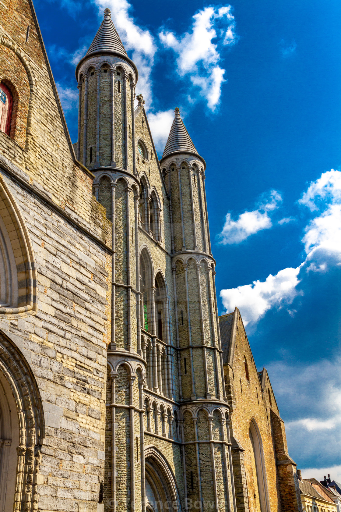 """Building in Bruges"" stock image"