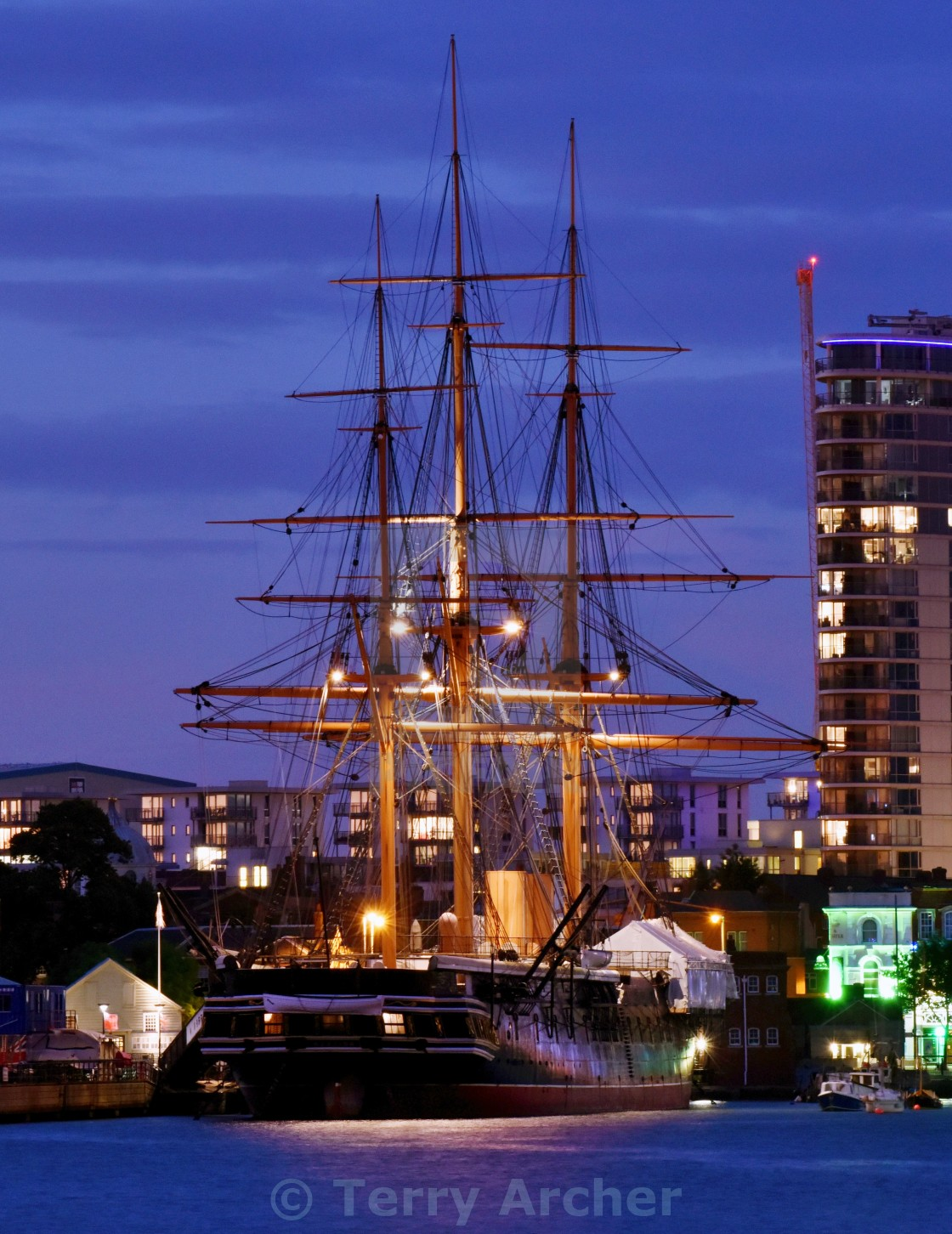 """HMS Warrior"" stock image"