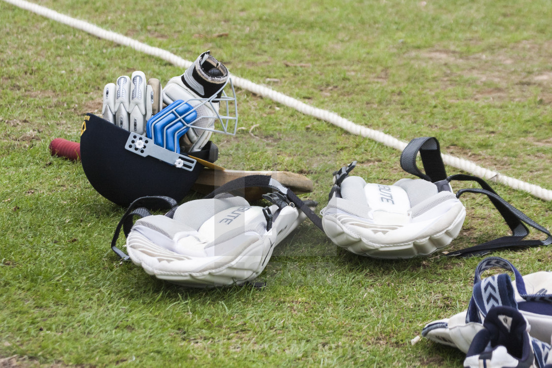 """Cricket sports equipment"" stock image"