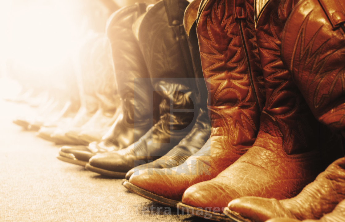 efe15a08ab5 Row of cowboy boots - License, download or print for £37.20 | Photos ...