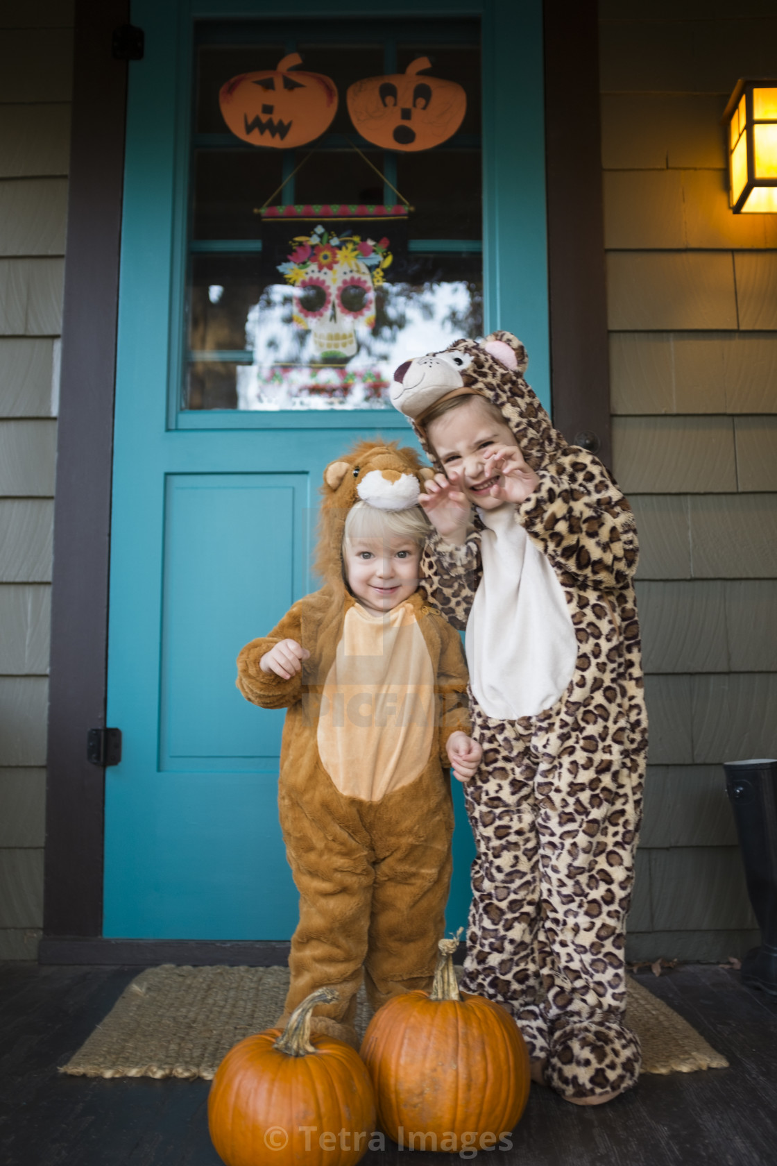 Halloween Costumes For 3 Kids.Two Kids 2 3 4 5 Wearing Halloween Costumes License