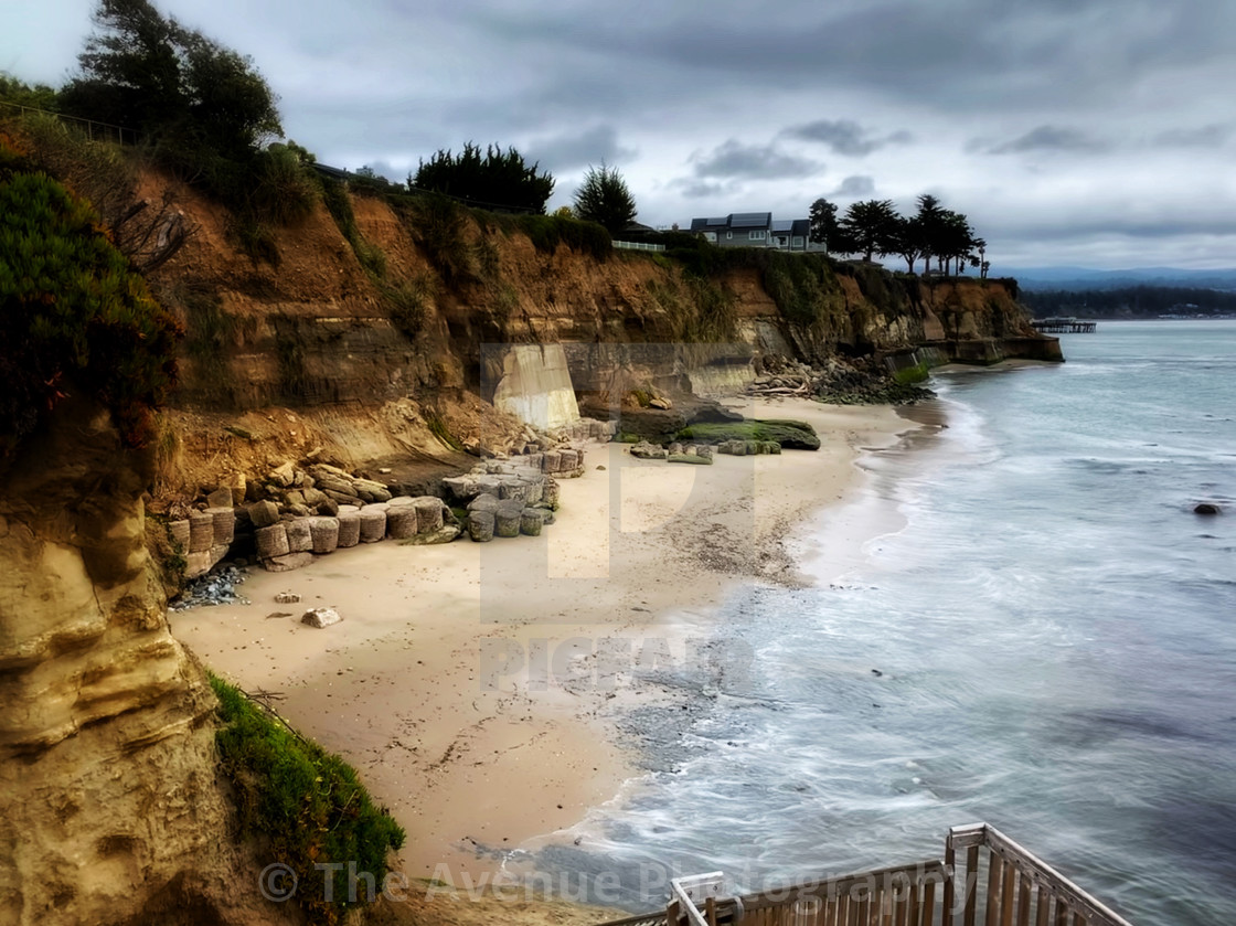 """Private Beach in Capitola, California"" stock image"