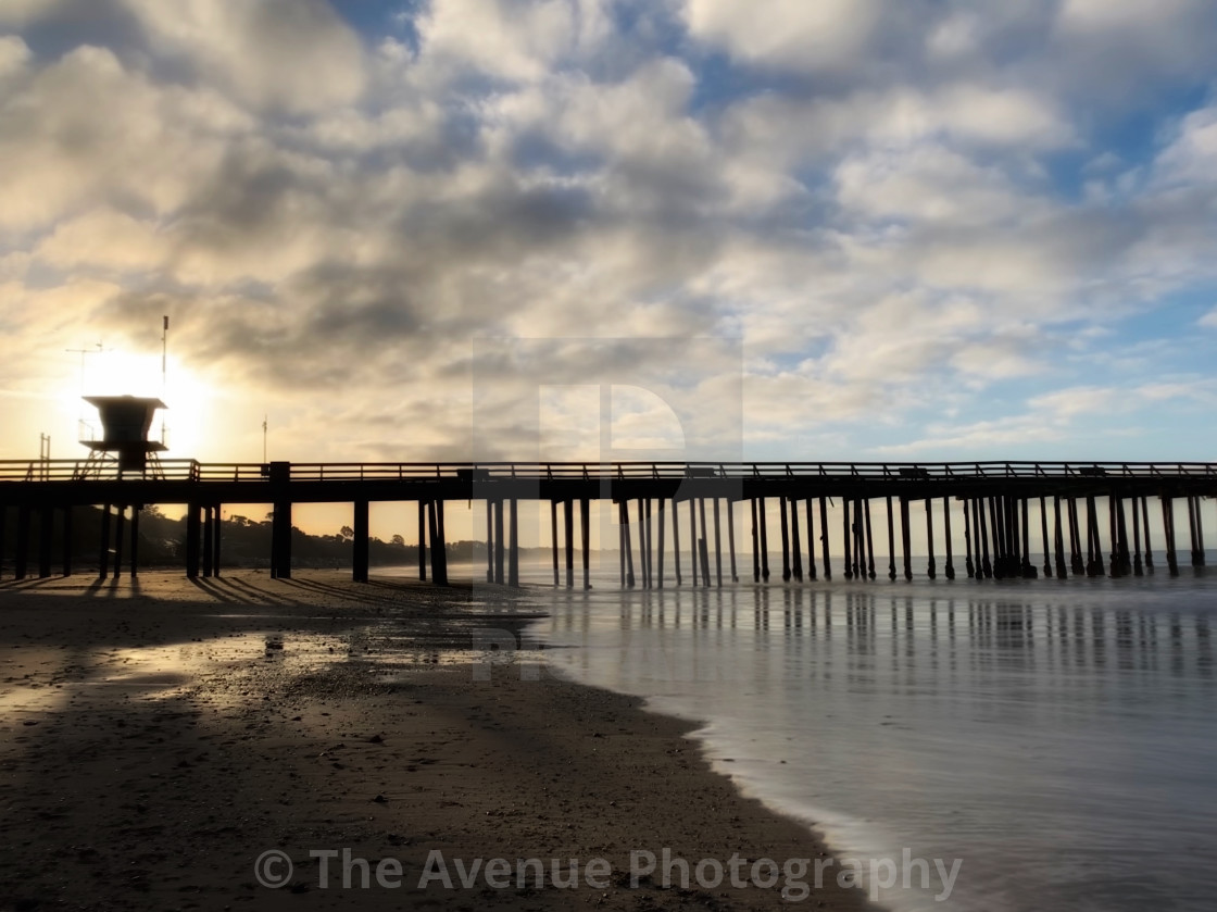 """Pier in Aptos California"" stock image"
