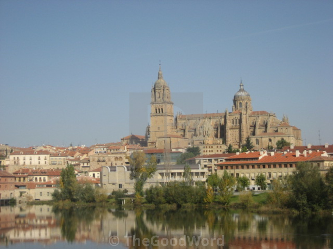 """Seeing Double in Salamanca"" stock image"
