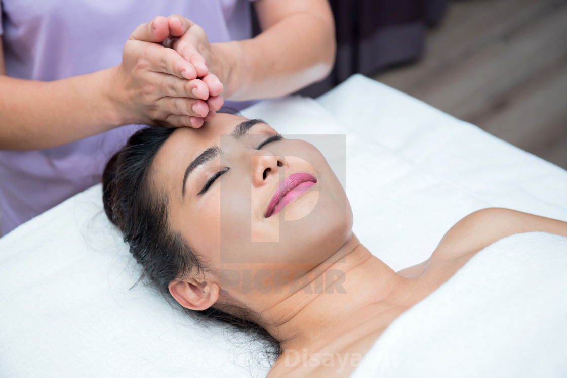 """Spa and Thai massage, beautiful women relaxing and healthy of aromatherapy"" stock image"