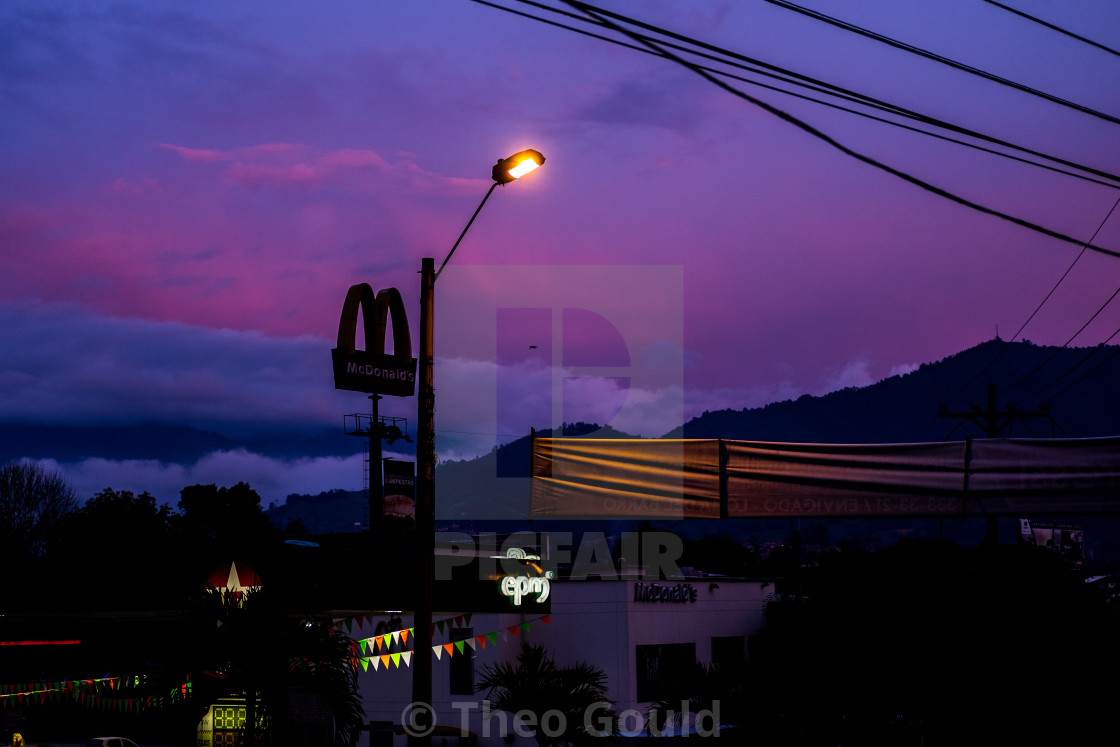 """McDonalds in the sky"" stock image"