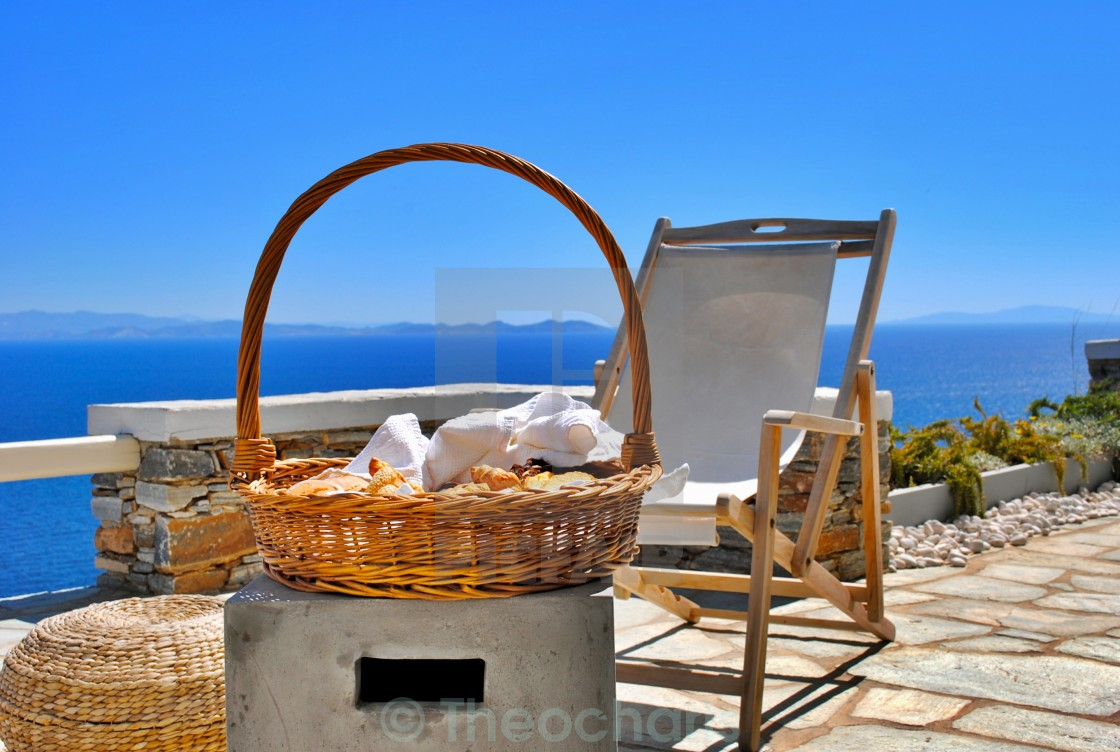 """...view of Aegean"" stock image"