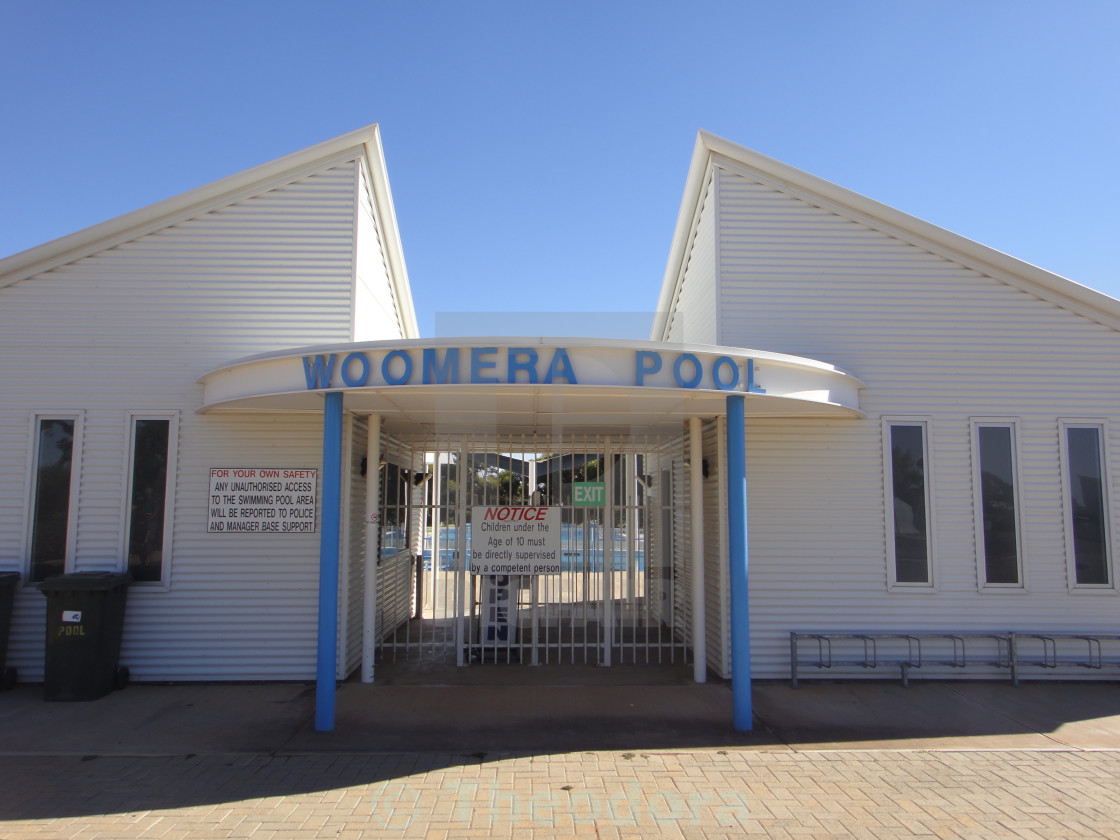 """Woomera Pool"" stock image"