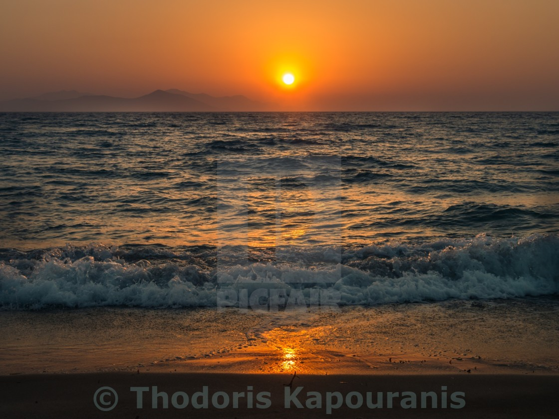 """Sunset in kos"" stock image"