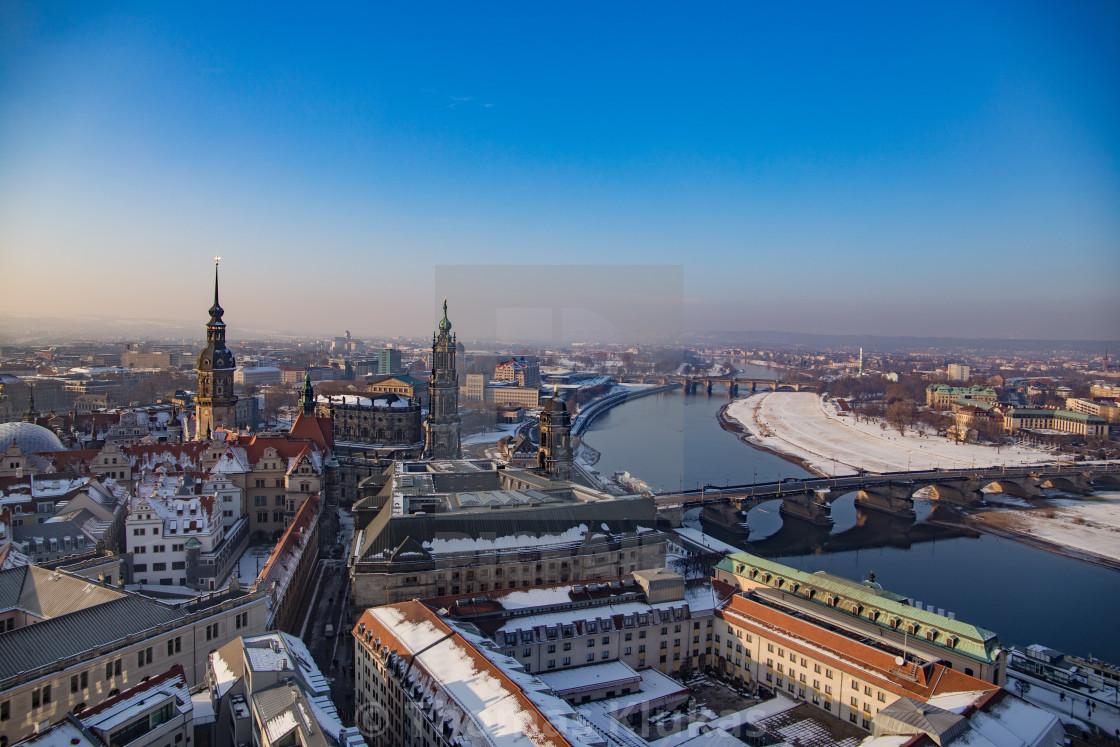 """""""Winter in Dresden"""" stock image"""
