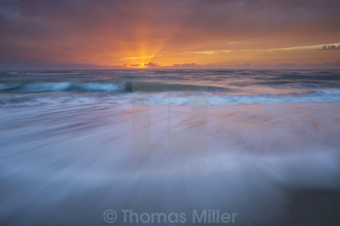 """Washed sunrise"" stock image"