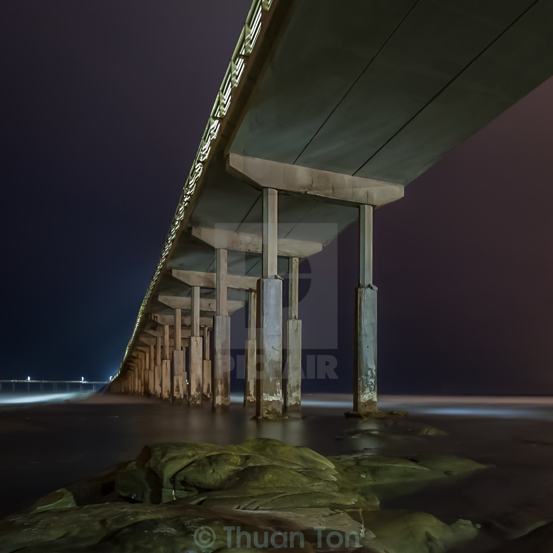 """O.B. Pier Blue Hour"" stock image"