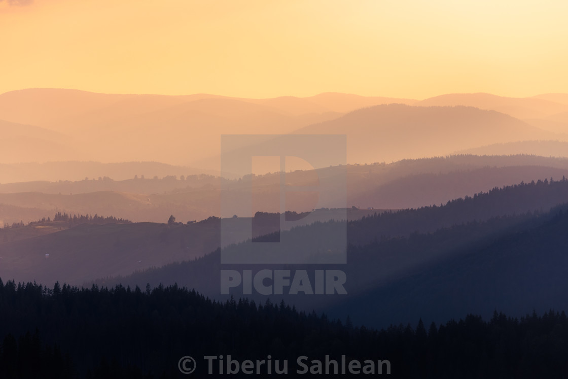 """Over the hills"" stock image"