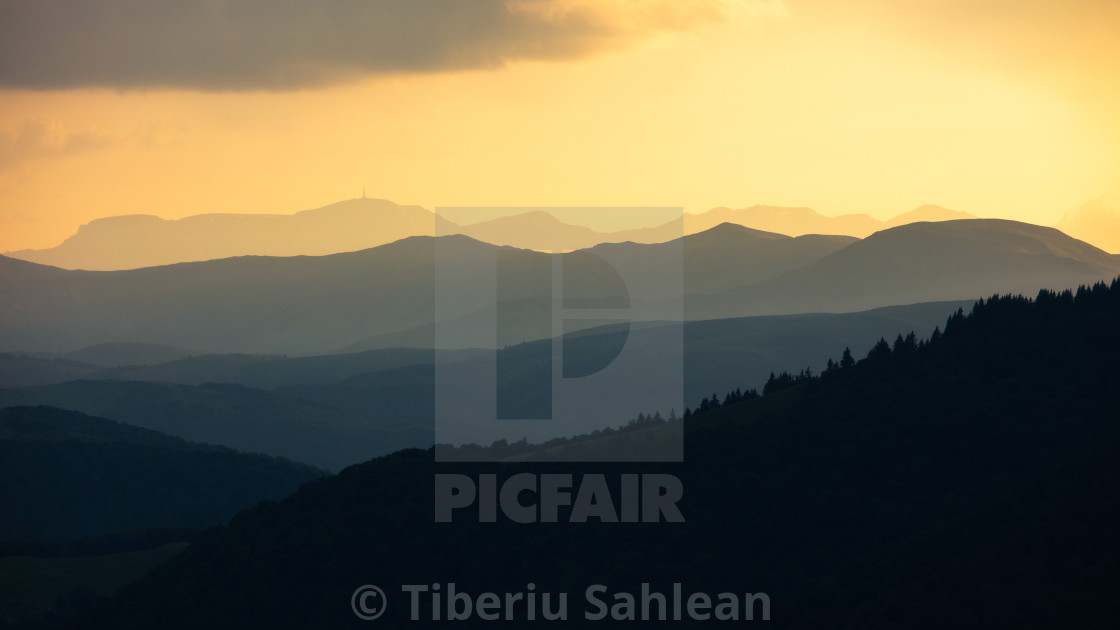 """Golden hour view"" stock image"