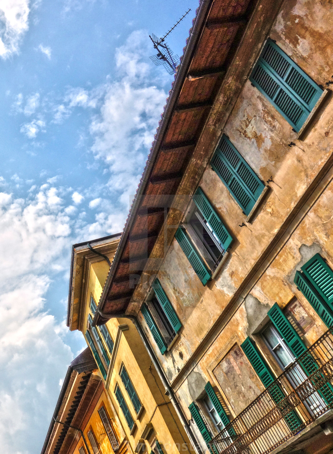 """""""Traditional houses in Cannobio"""" stock image"""