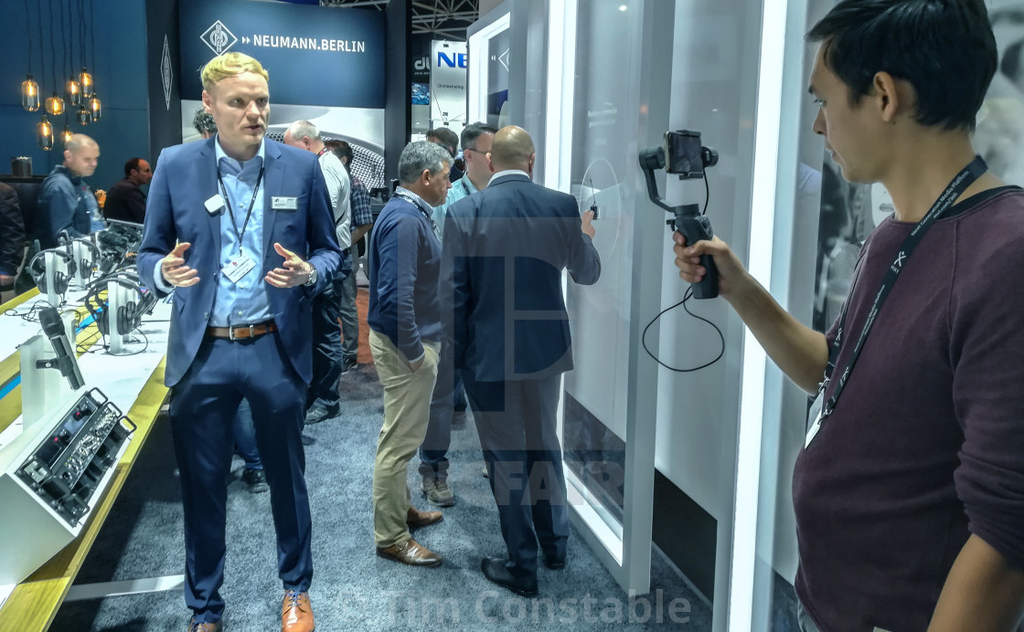 """Trade show interview"" stock image"