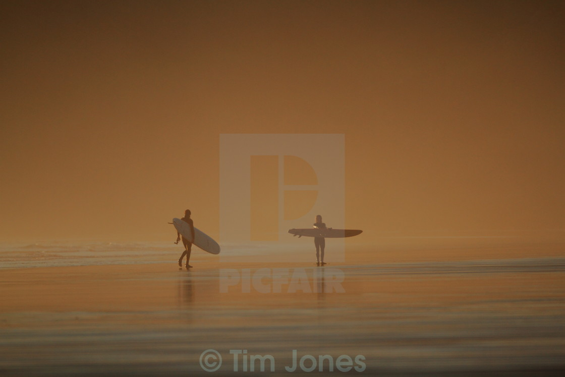 """Surfers"" stock image"