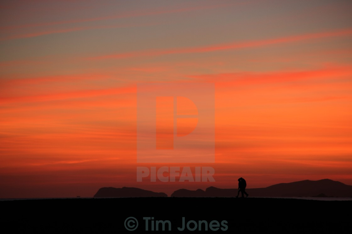 """Sunset Stroll"" stock image"