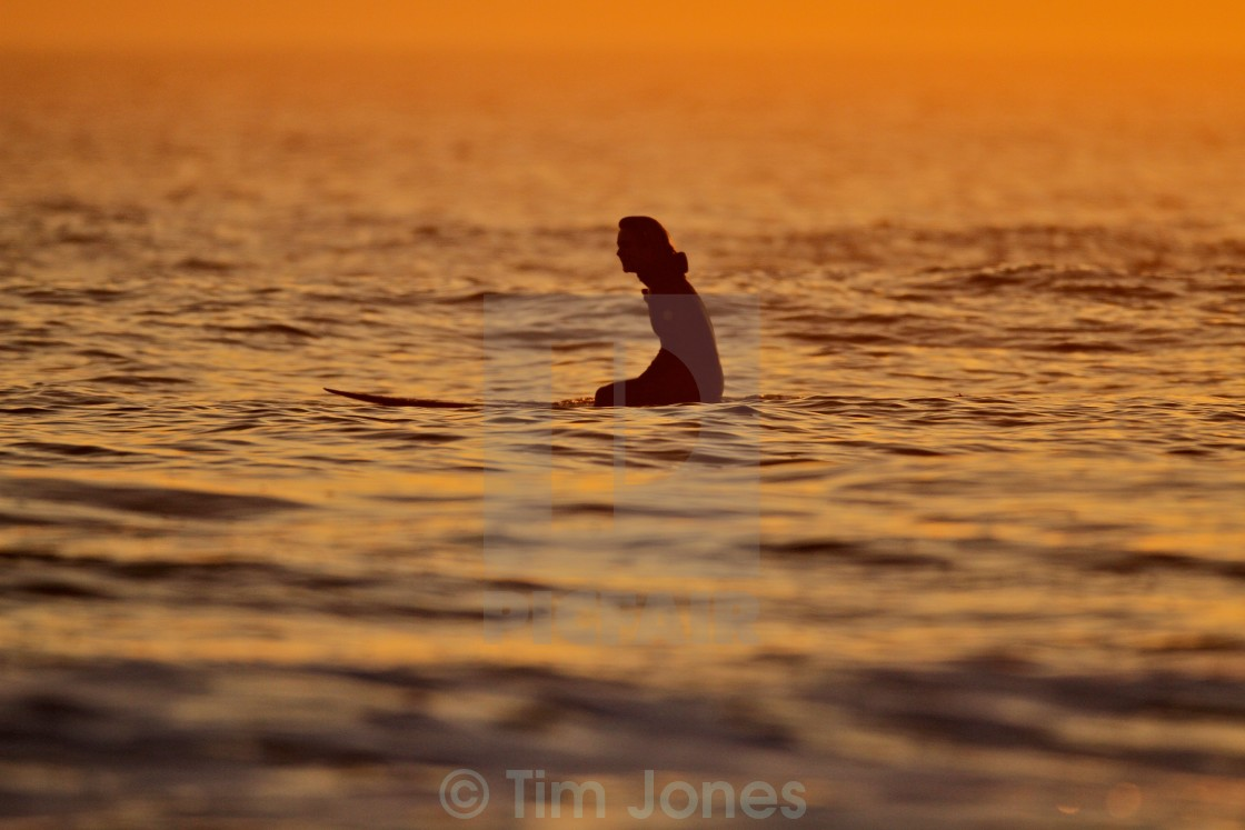 """Surfer Girl"" stock image"