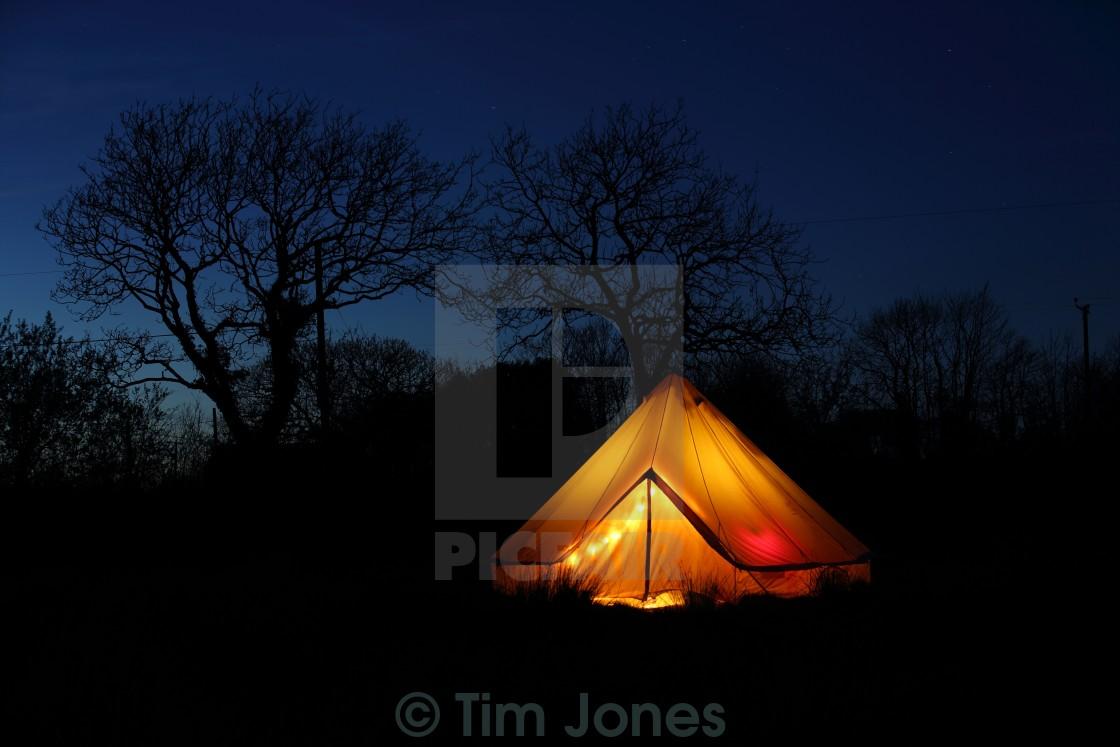 """The Bell Tent"" stock image"