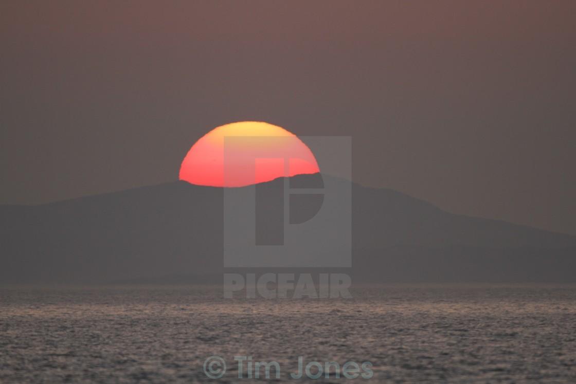 """Fat Old Sun"" stock image"