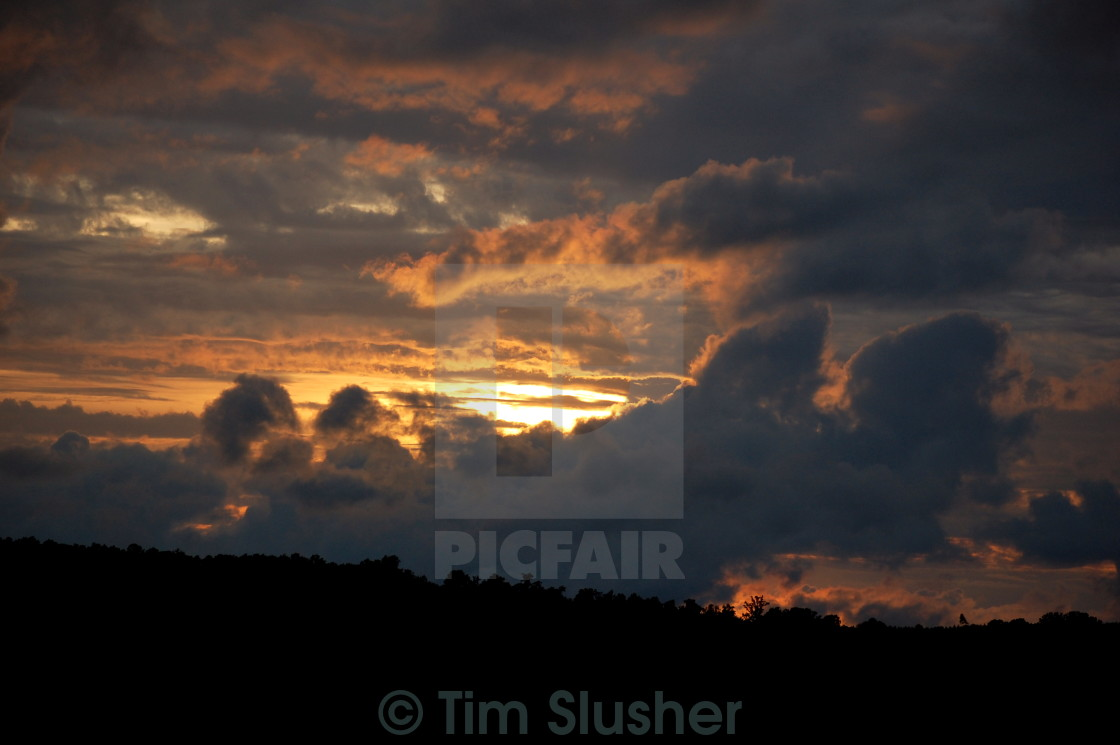 """Cloudy Sunset"" stock image"