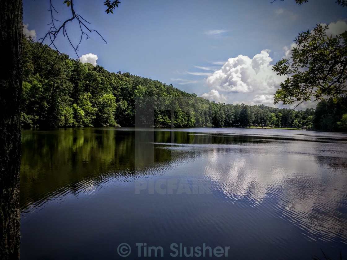 """Tranquility Lake"" stock image"