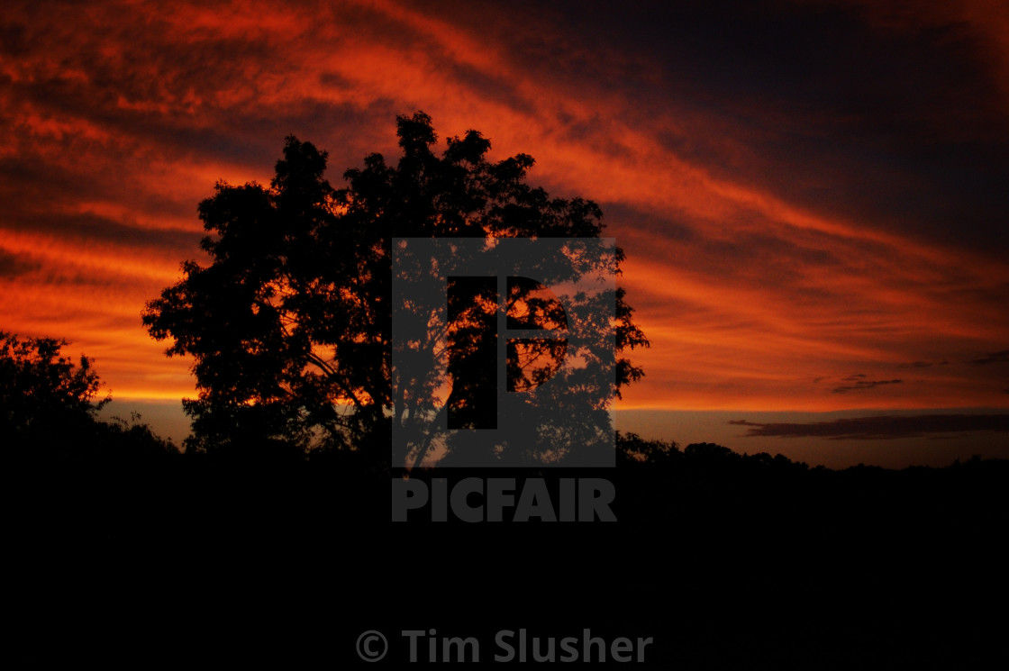 """""""Red Cloud Sunset"""" stock image"""