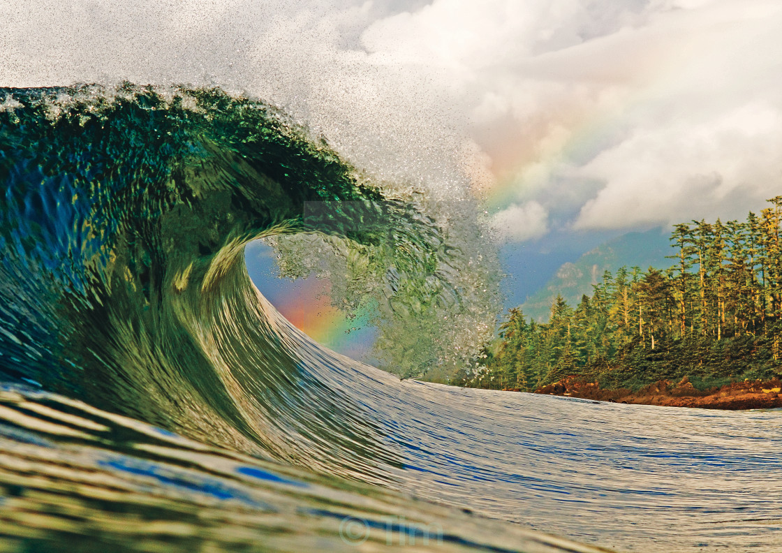 """Rainbow Wave"" stock image"