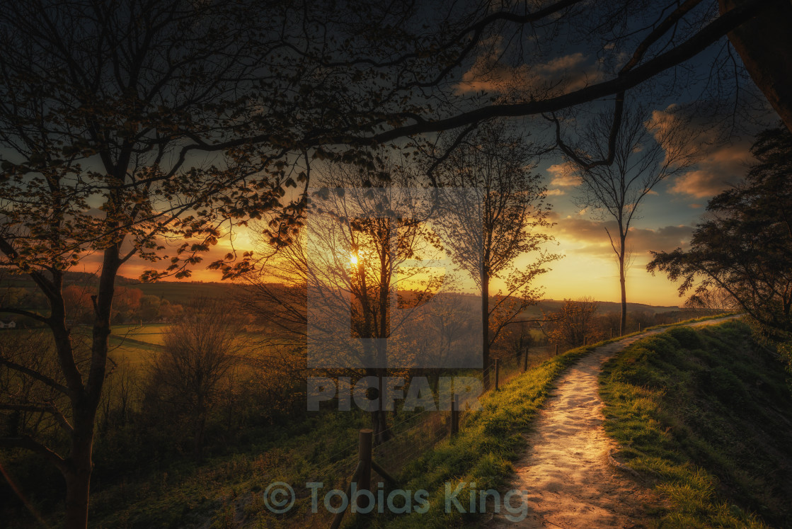 """Twilight Path"" stock image"