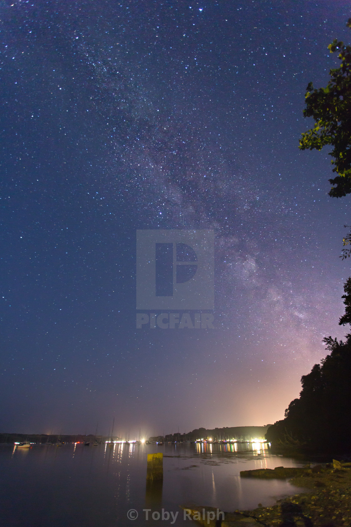 """Milky Way above Mylor"" stock image"