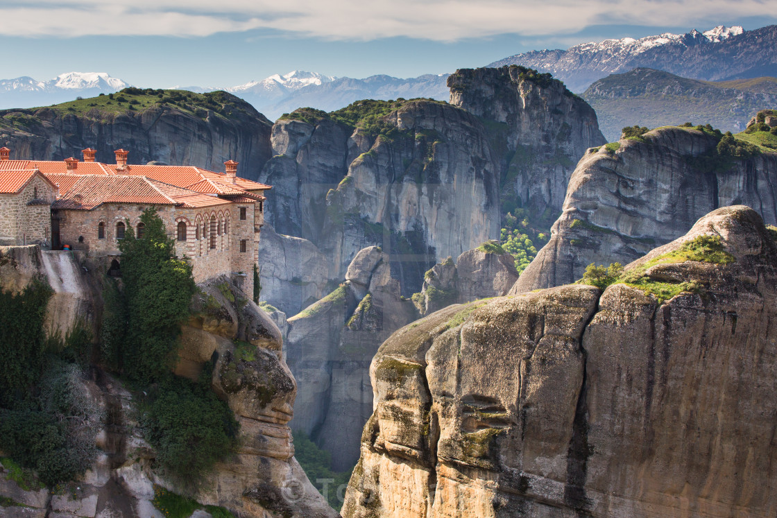 """Morning in Meteora"" stock image"