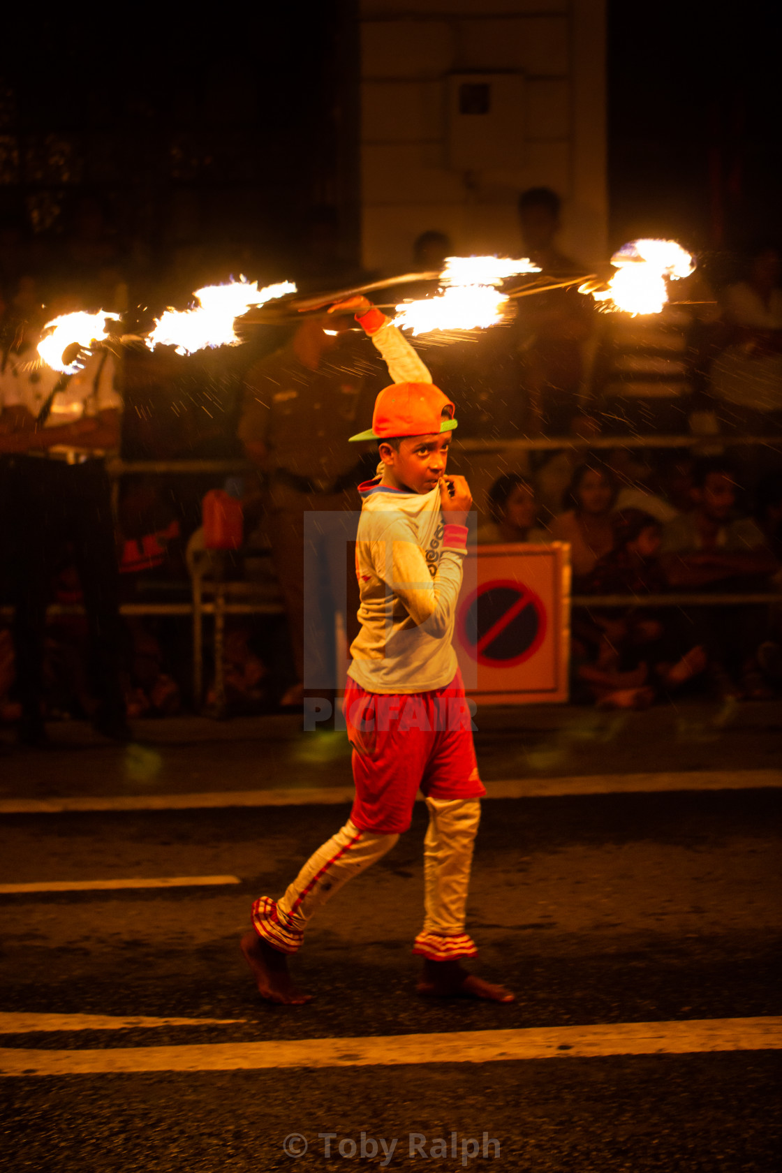 """Kandyan Fire Dancer (4)"" stock image"