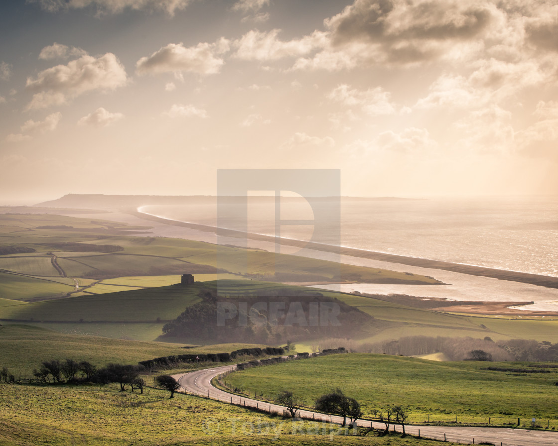 """St Catherine's Chapel and the Fleet"" stock image"