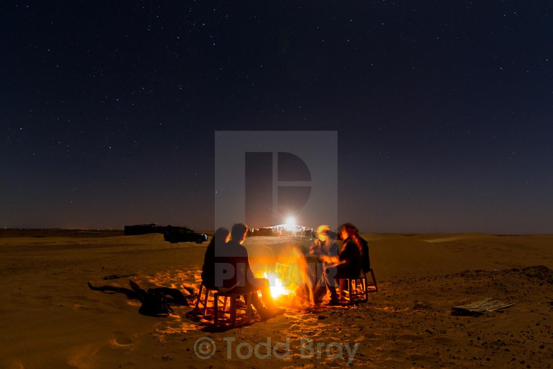 """""""Sahara campfire"""" stock image"""