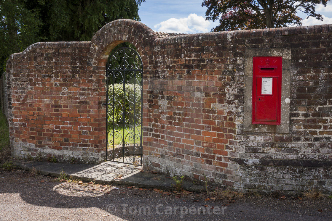 Victorian Letterbox In Garden Wall License Download Or Print For